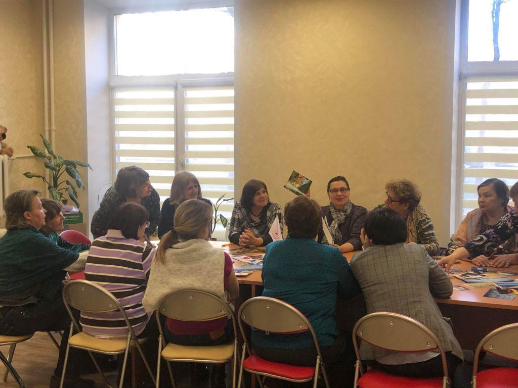 Школа родственников - психологический тренинг: обсуждение темы мероприятия участниками встречи