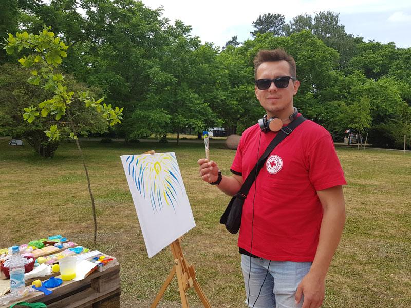 Фестиваль в Ботаничеком Саду: волонтер Владимир Семенюк